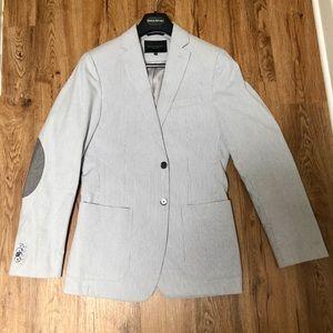 Banana Republic blue seersucker jacket